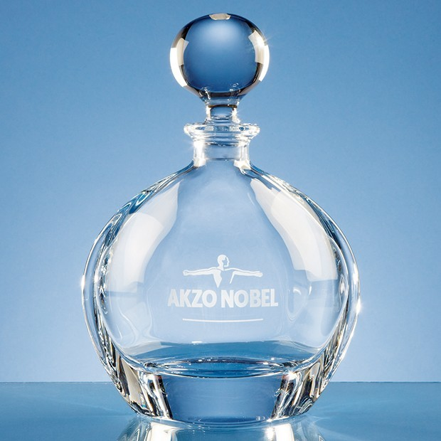 0.8ltr Crystalite Round Decanter