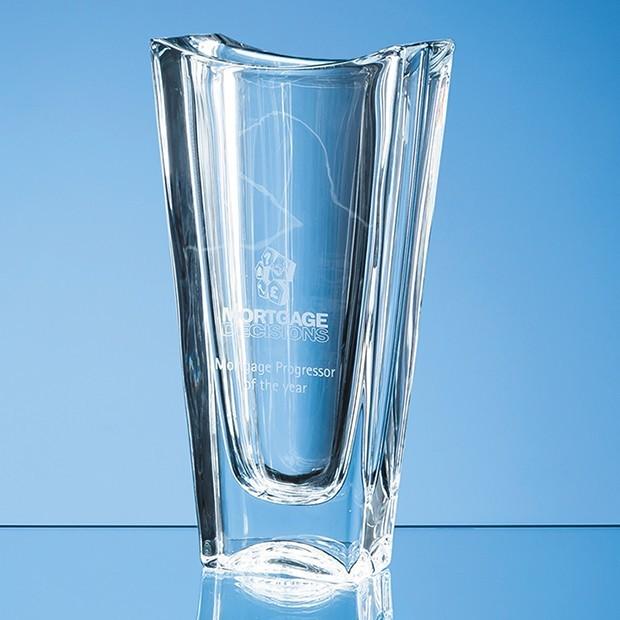 25.5cm Crystalite Okinawa Tapered Vase