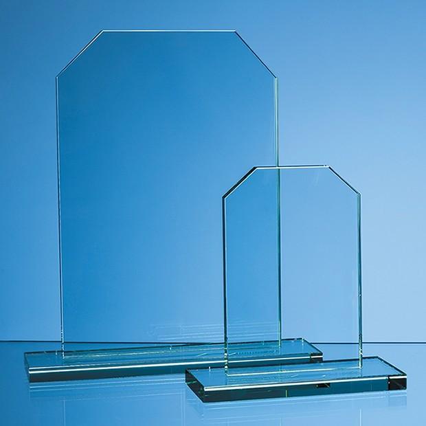 15cm x 12mm Jade Glass Honour Award
