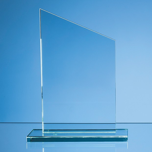 25cm x 12mm Jade Glass Slope Award