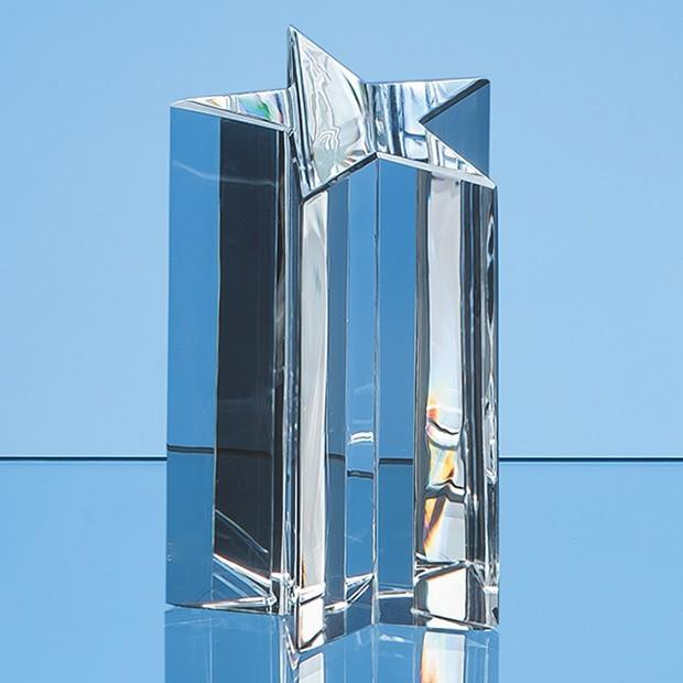 13.5cm Optical Crystal 5 Pointed Star Award