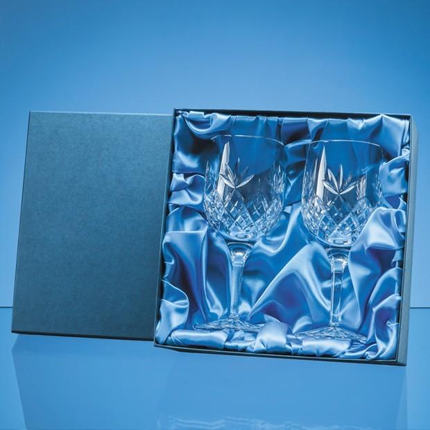 2pc 280ml Blenheim Lead Crystal Full Cut Goblet Gift Set