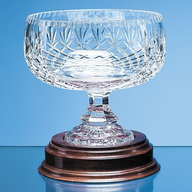 18cm Lead Crystal Footed Bowl
