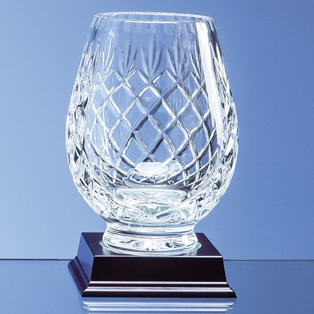15cm Lead Crystal Panelled Tulip Vase