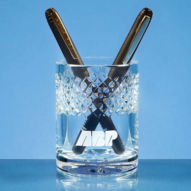 9cm Lead Crystal Pen Holder