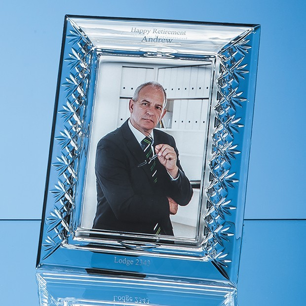 "21.5cm Lead Crystal Panelled Photo Frame for 4"" x 6"" Photo, V"