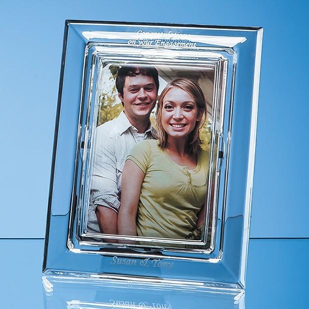 "21.5cm Lead Crystal Plain Photo Frame for 4"" x 6"" Photo, H or V"