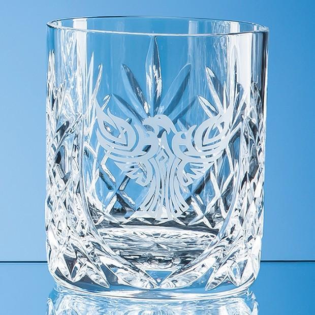 400ml Glencoe Lead Crystal Panel Whisky Tumbler