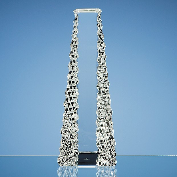 26cm Mario Cioni Lead Crystal Tower Award