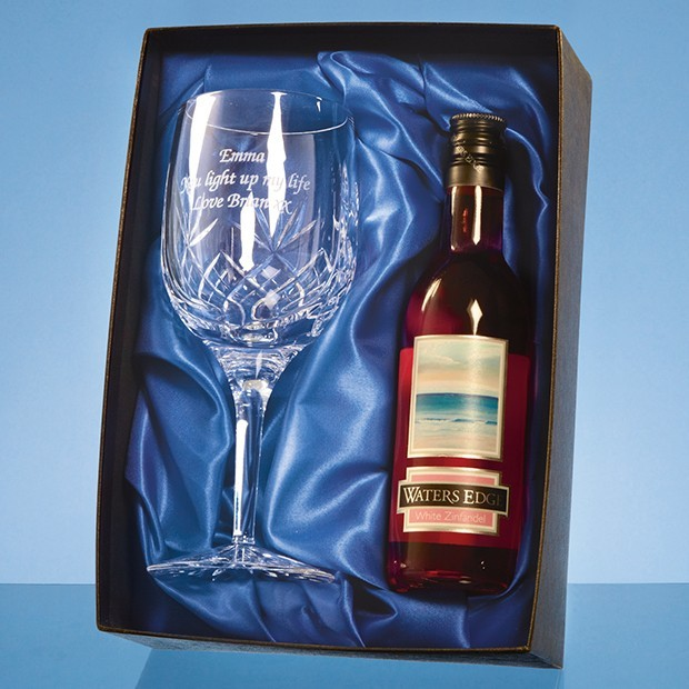 Blenheim Single Goblet Gift Set with a 18.7cl Bottle of Rose Wine