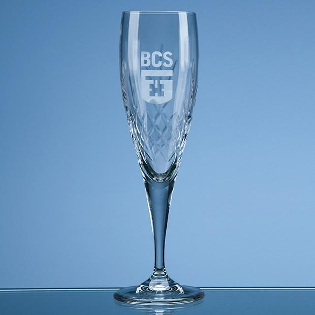 180ml Mayfair Crystalite Panel Champagne Flute