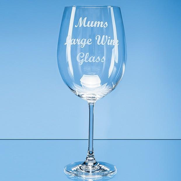 850ml 'Grande Vino' Full Bottle of Wine Glass