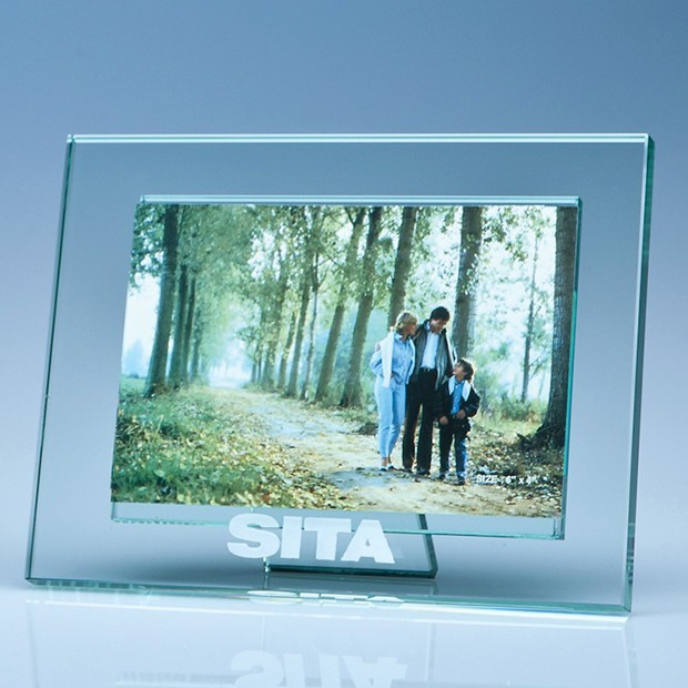 "Jade Glass Photo Frame for 6"" x 4"" Photo, H"
