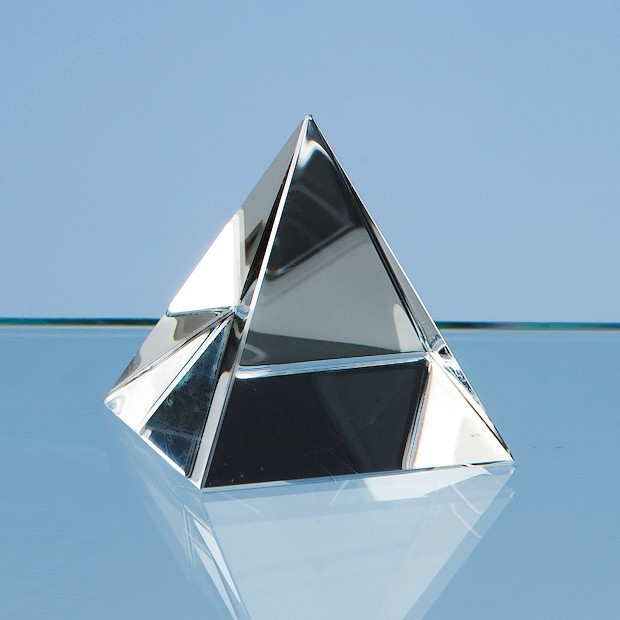 5cm Optical Crystal 4 Sided Pyramid