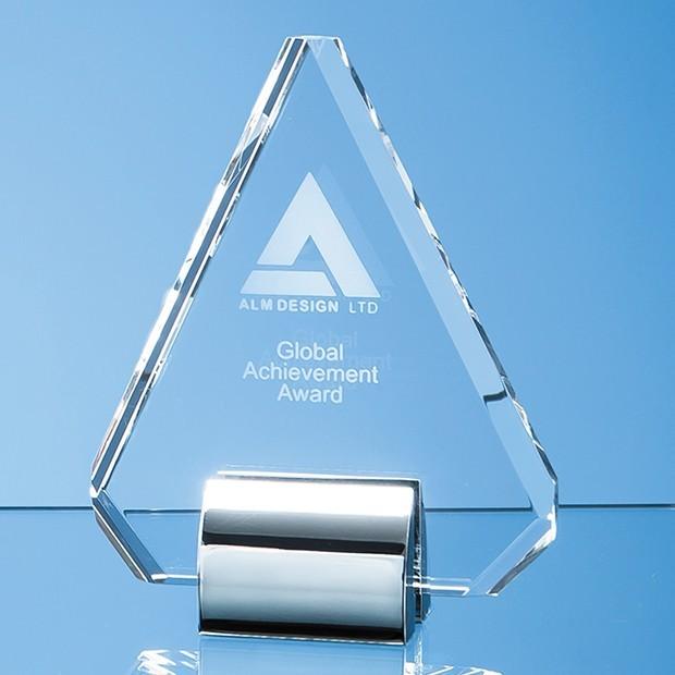 14.5cm Optical Crystal Diamond mounted on a Chrome Stand