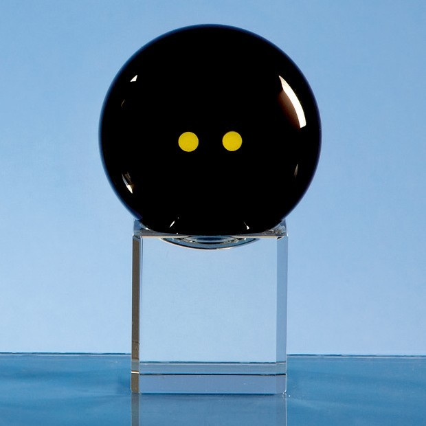 Onyx Black Optic Squash Ball on Clear Base