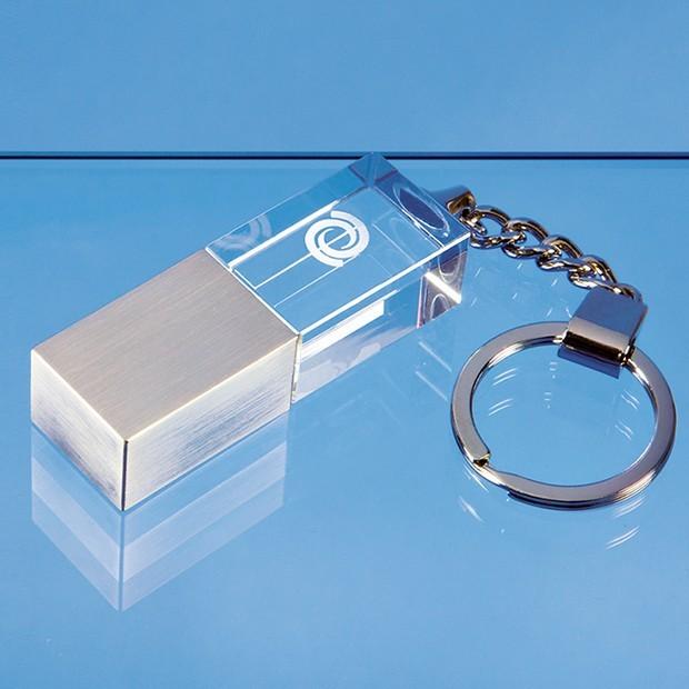 4GB Optical Crystal Memory Stick Keyring