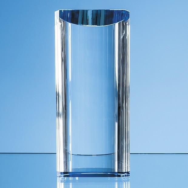13.5cm Optical Crystal Semi Circular Cylinder Award
