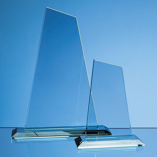 15cm x 12mm Jade Glass Mountain Award