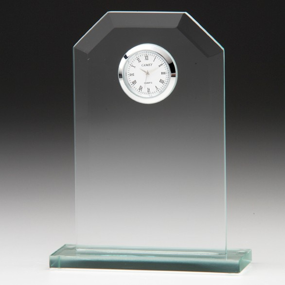 Vitoria Jade Crystal Clock 160mm
