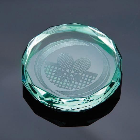 Jade Gaia Glass Paperweight Jade Award 70mm
