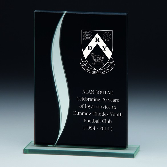 Spirit Fury Black Mirror Glass Award 125mm