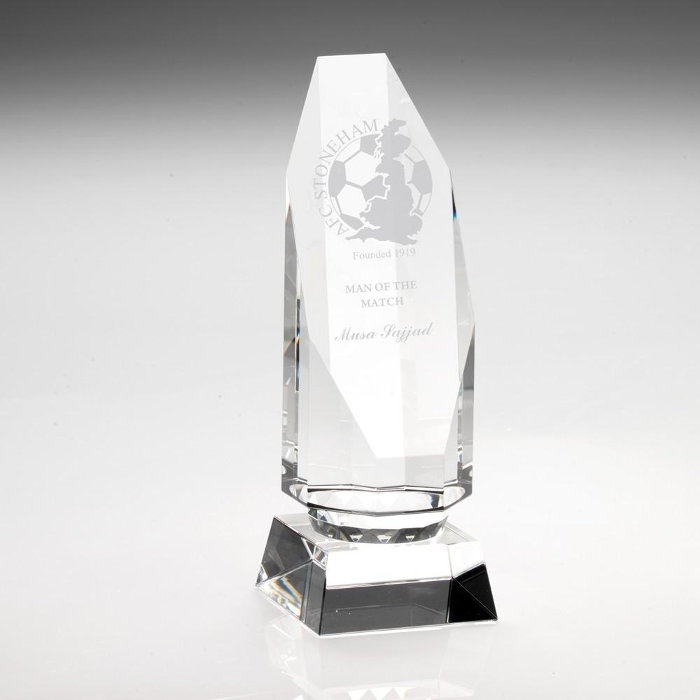 15.5cm Clear Glass Column On Base