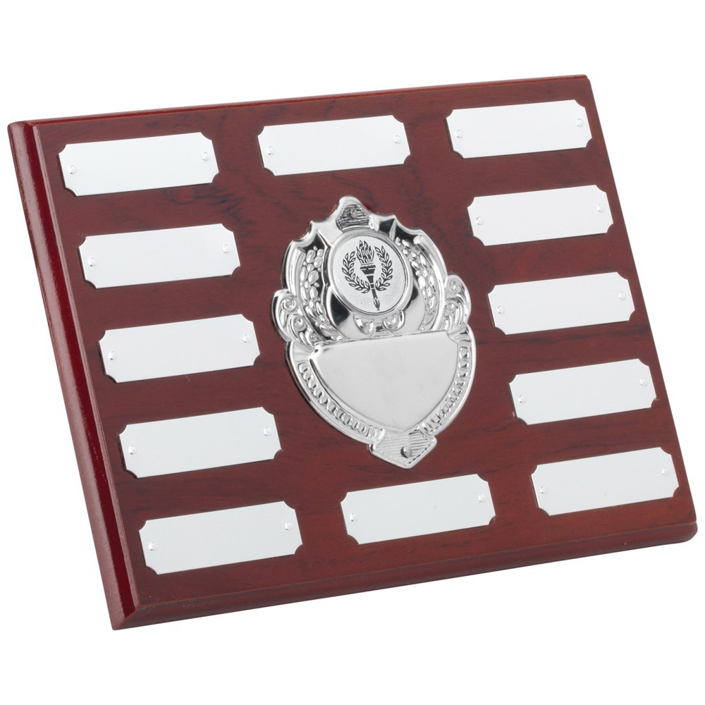 15.5cm Rosewood Plaque With Chrome Fronts