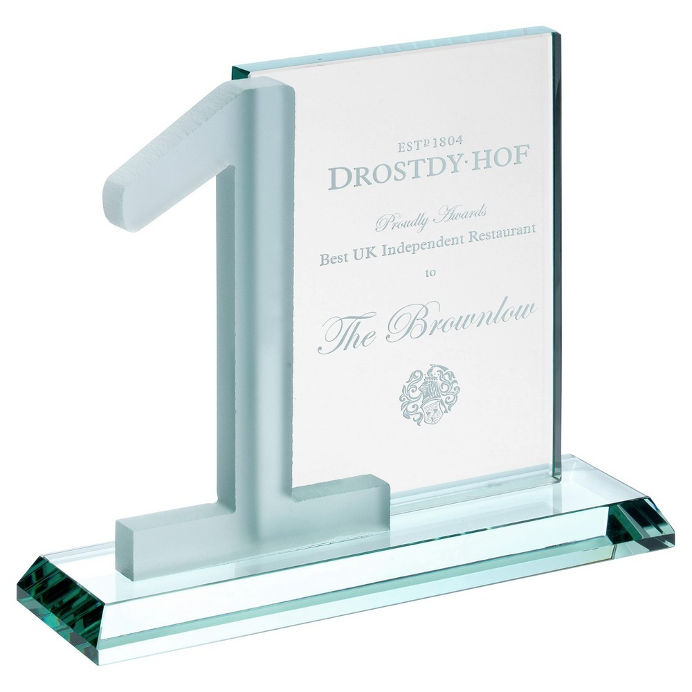 Jade Glass Rectangle With Frosted No.1 (10mm Thick) - 6inch