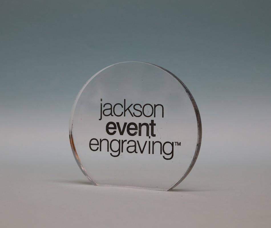 Freestanding Acrylic Circle Award 90mm
