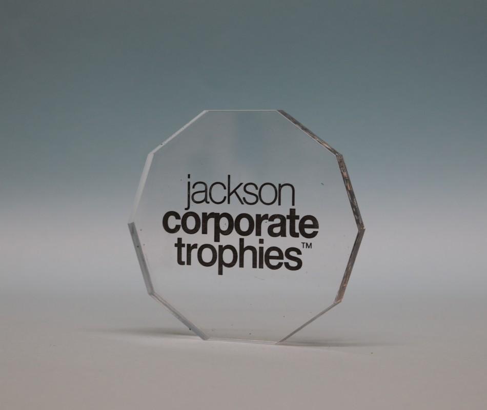 Freestanding Acrylic Decagon Award 90mm