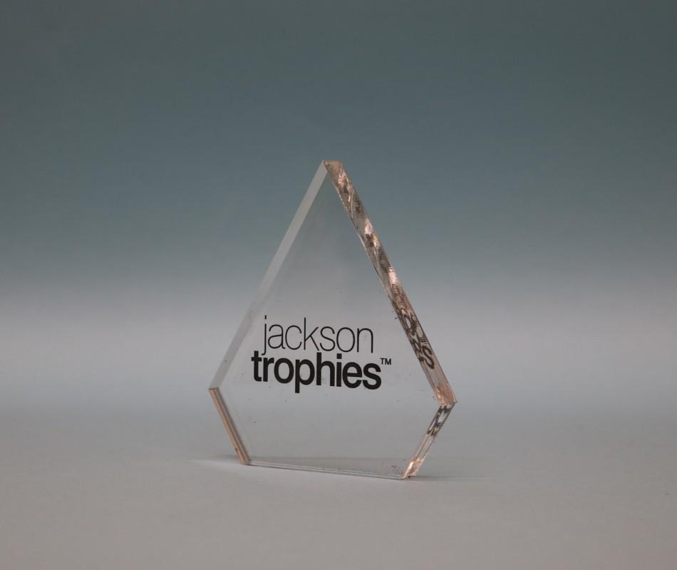Freestanding Acrylic Diamond Award 90mm