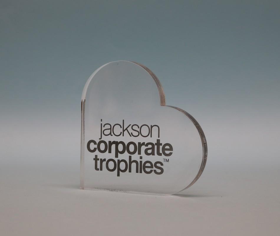 Freestanding Acrylic Heart Award 90mm