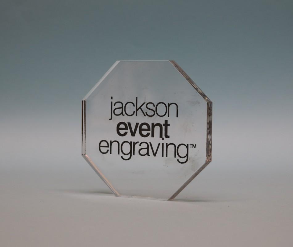 Freestanding Acrylic Octagon Award 90mm