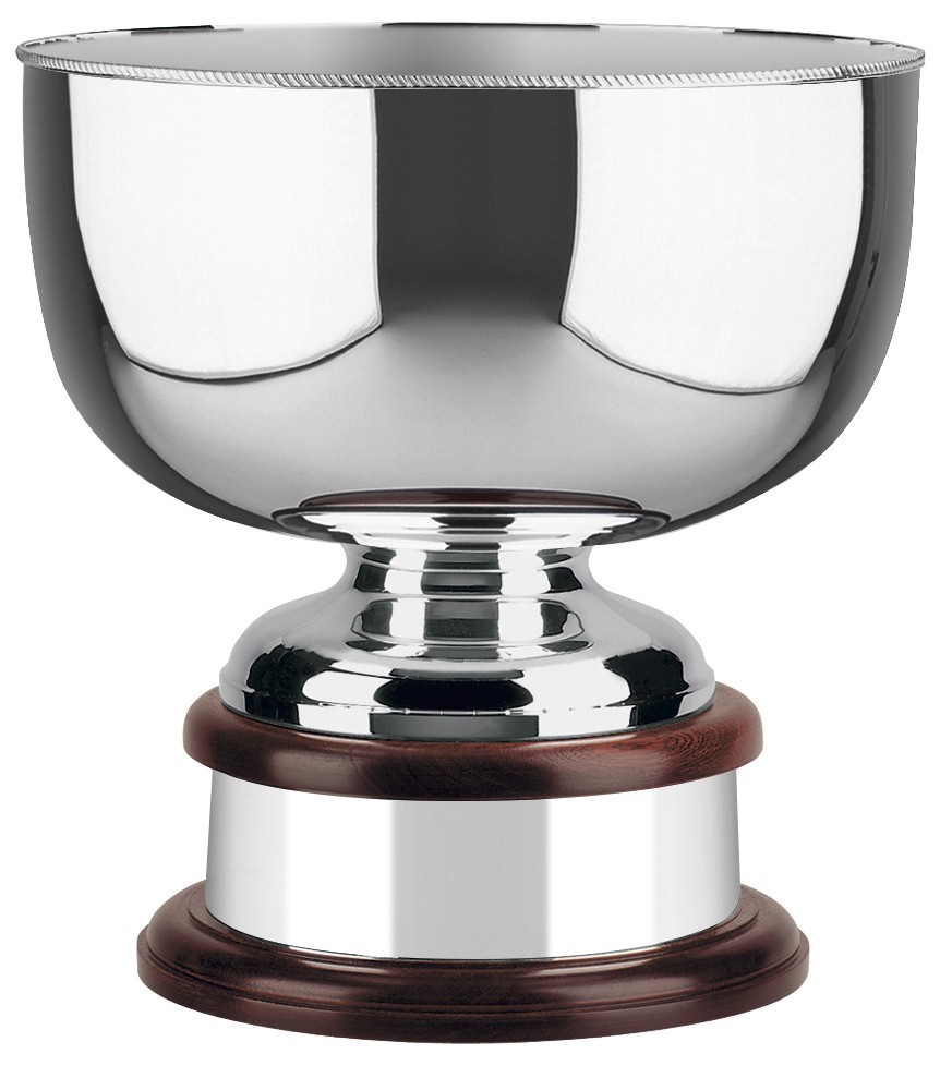 30.5cm Silver Plated World Cup Bowl with Scalloped Edge