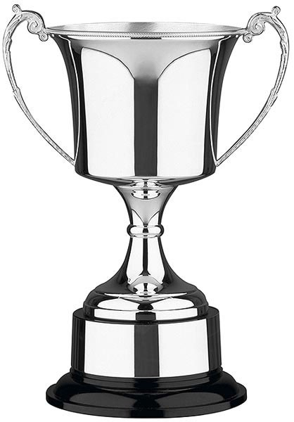 24cm Silver Plated Prestige Cup with Optional Band and Lid