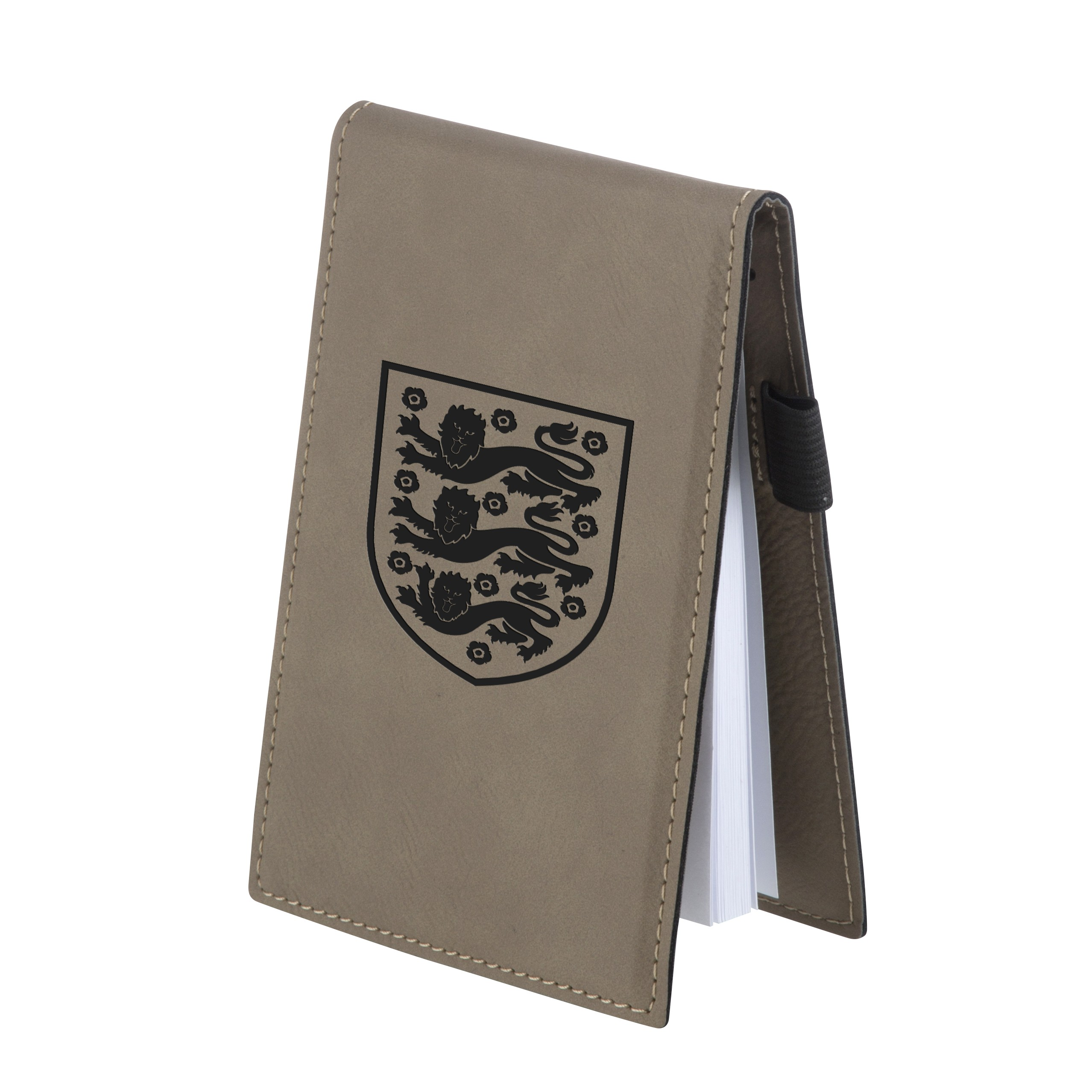 Leatherette Small Brown Note Pad Holder