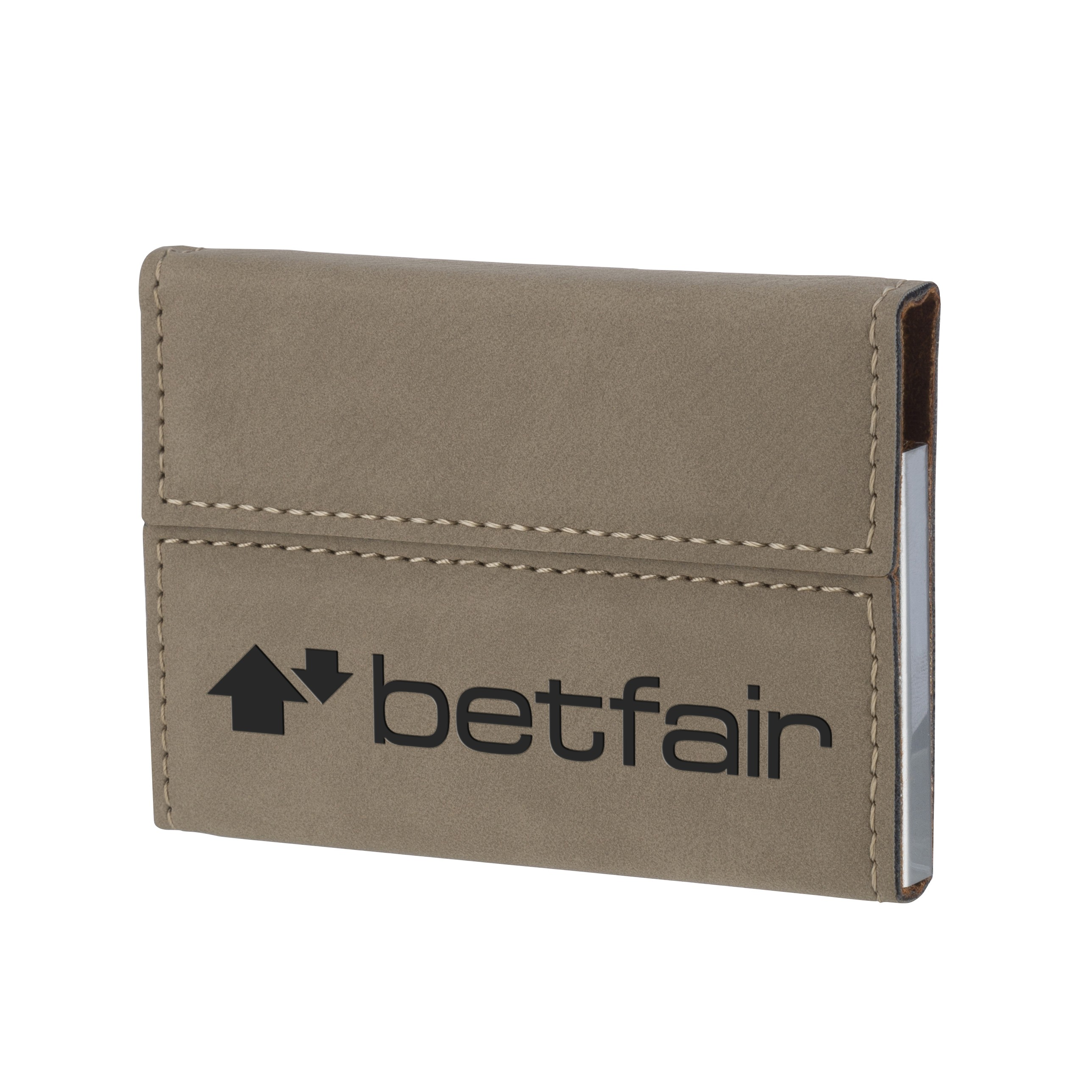 Leatherette Brown Name Card Holder