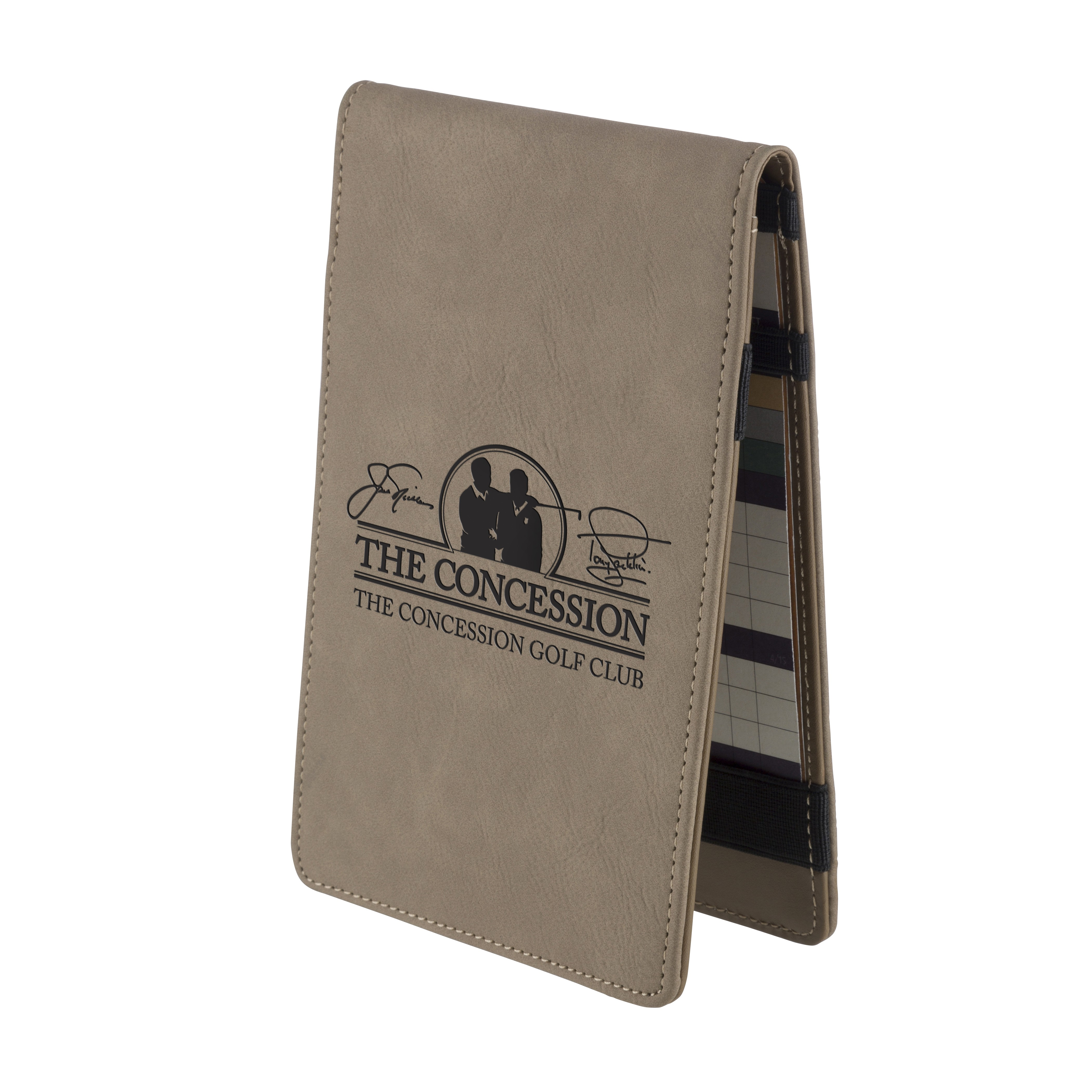Leatherette Brown Golf Score Card Holder