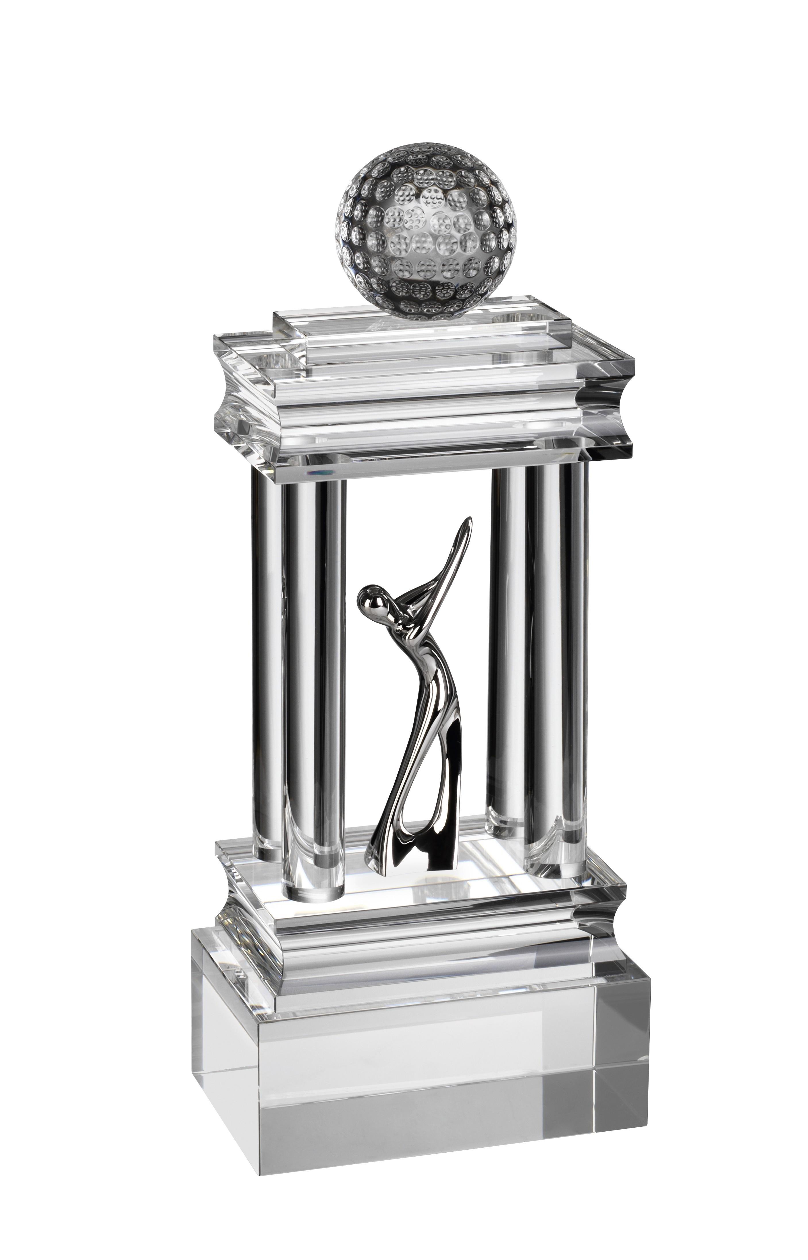 33cm Champions Crystal Golf Award