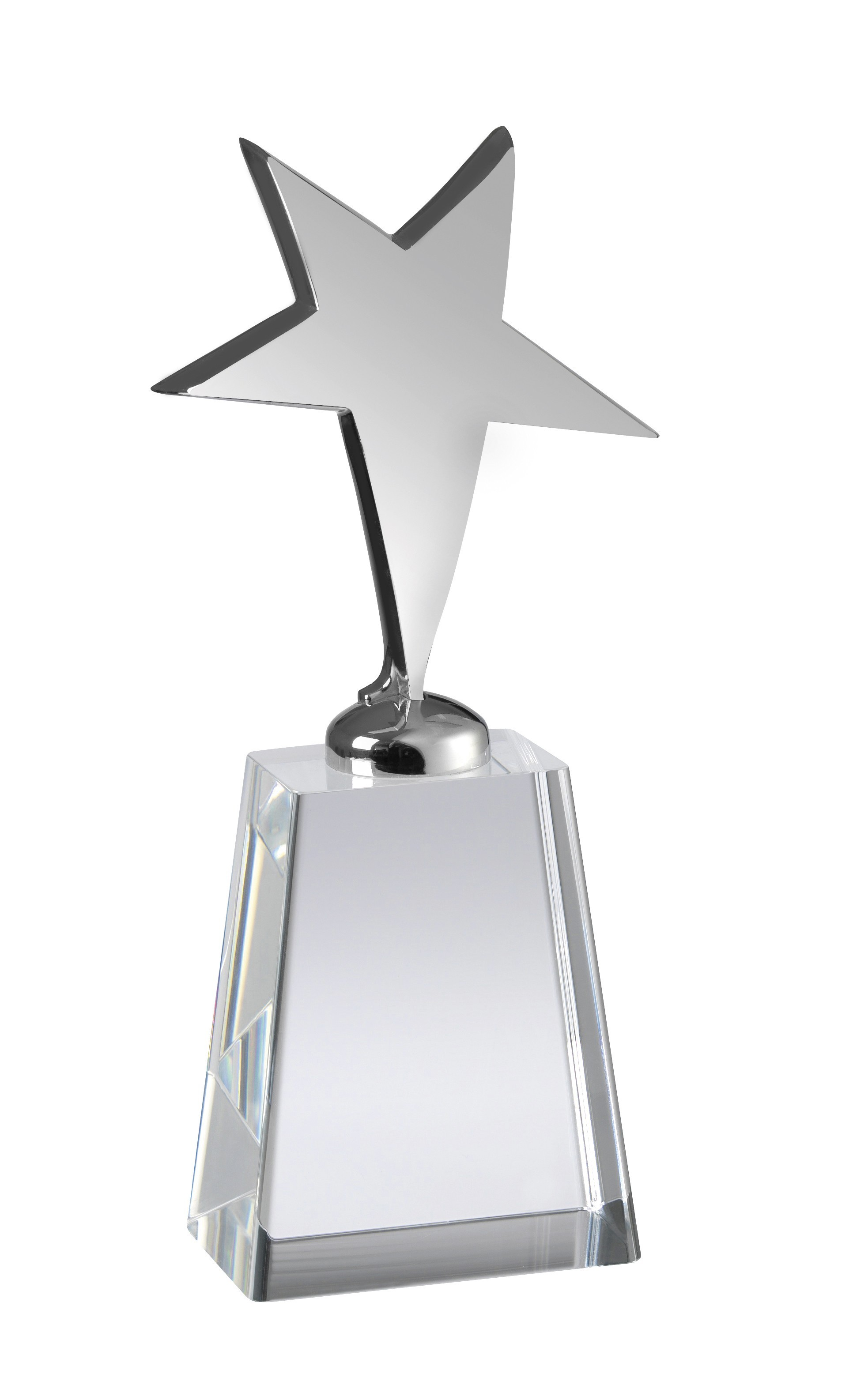 17.5cm Metal Star Award with Crystal Base in Box