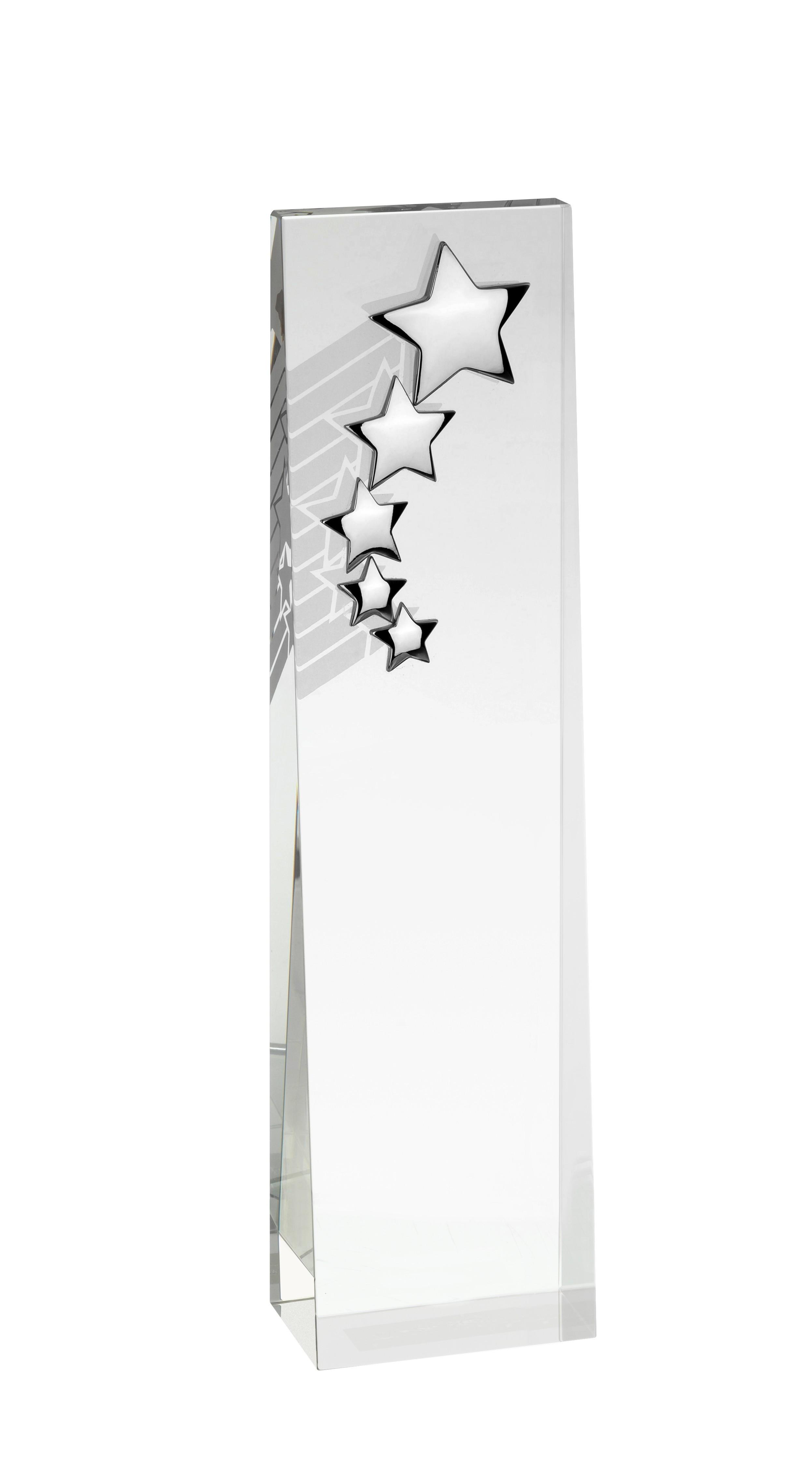 20cm Crystal Star Award in Box