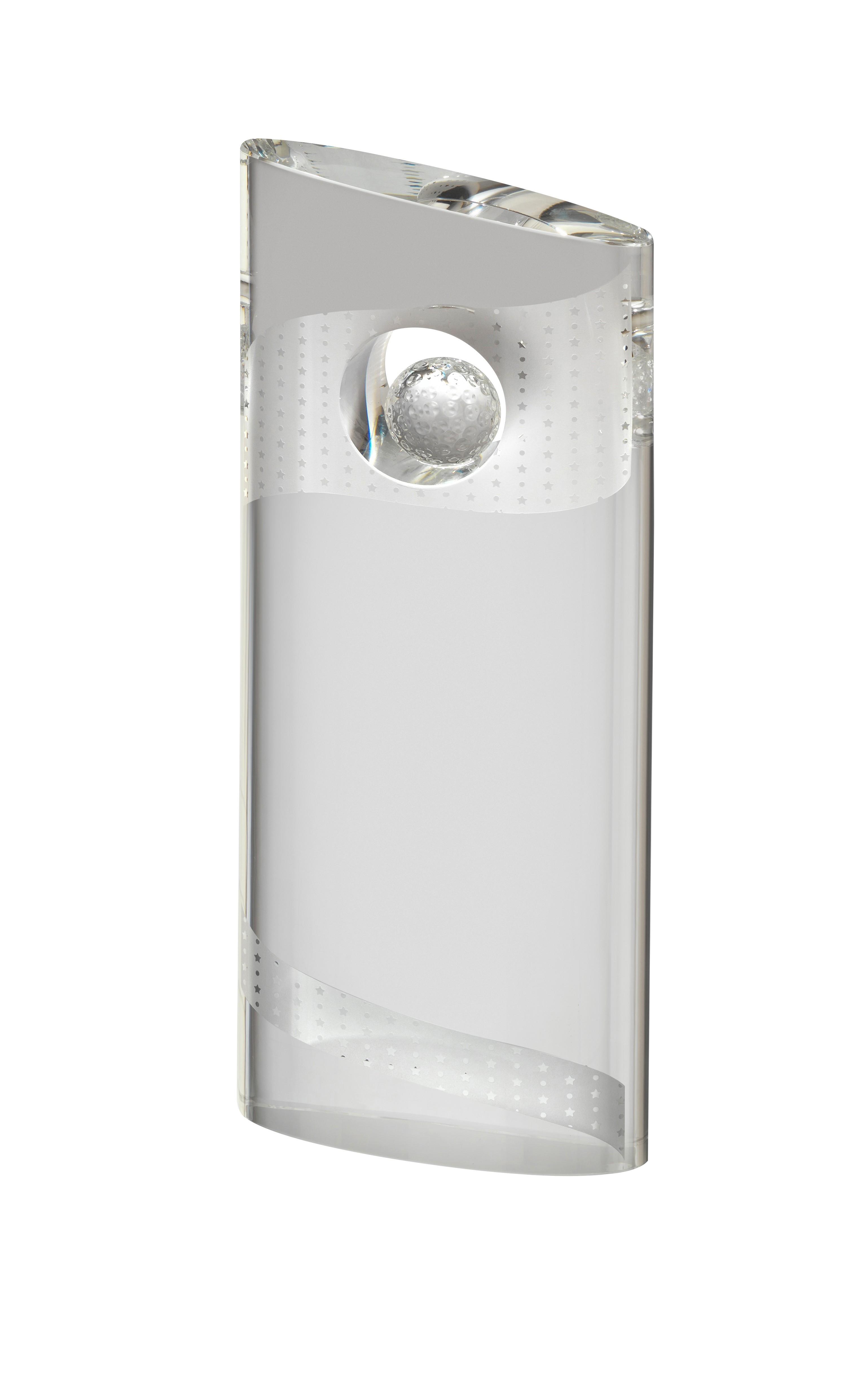 SBA 18cm Golf Crystal Award