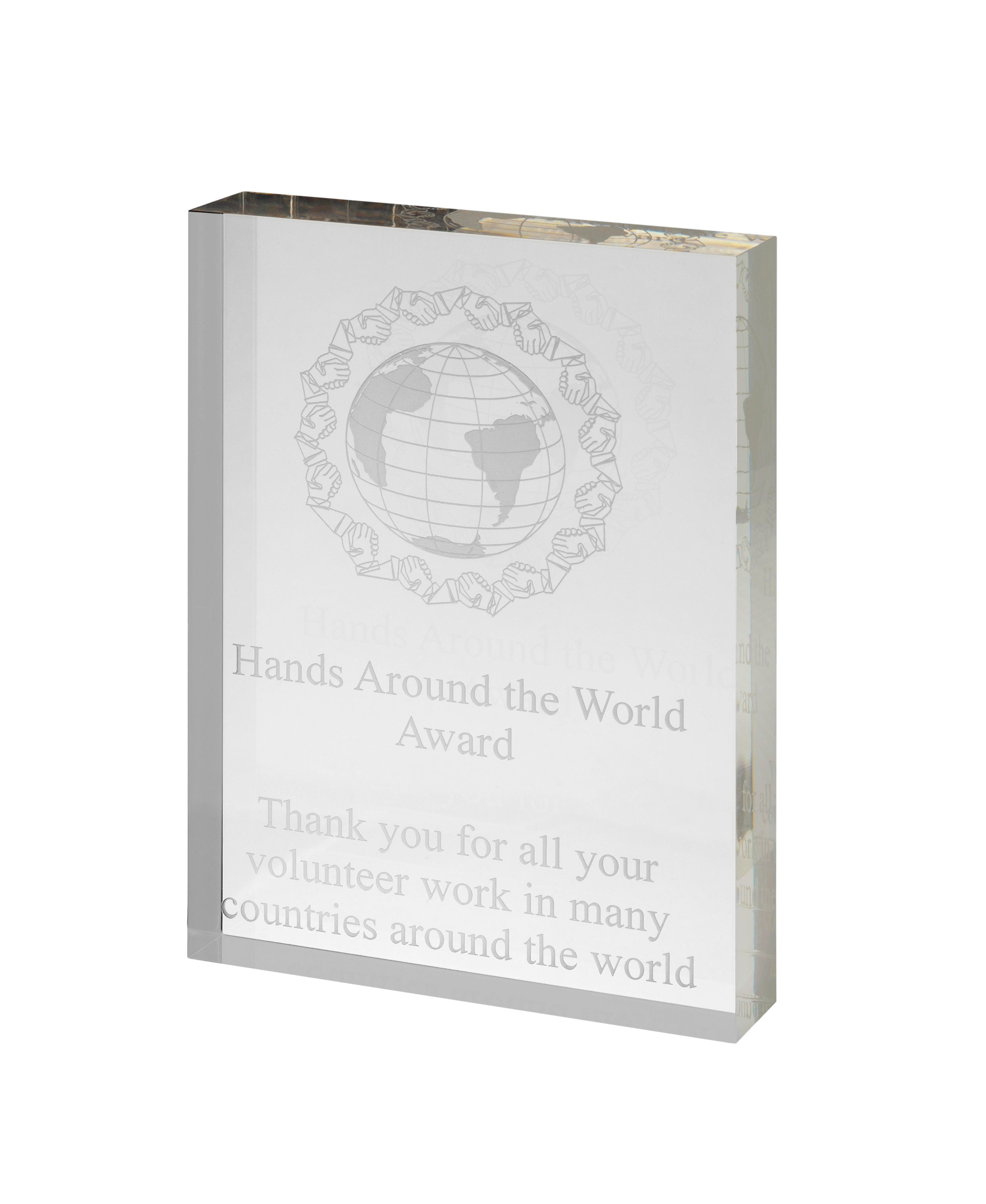 7x5 inch Acrylic Award