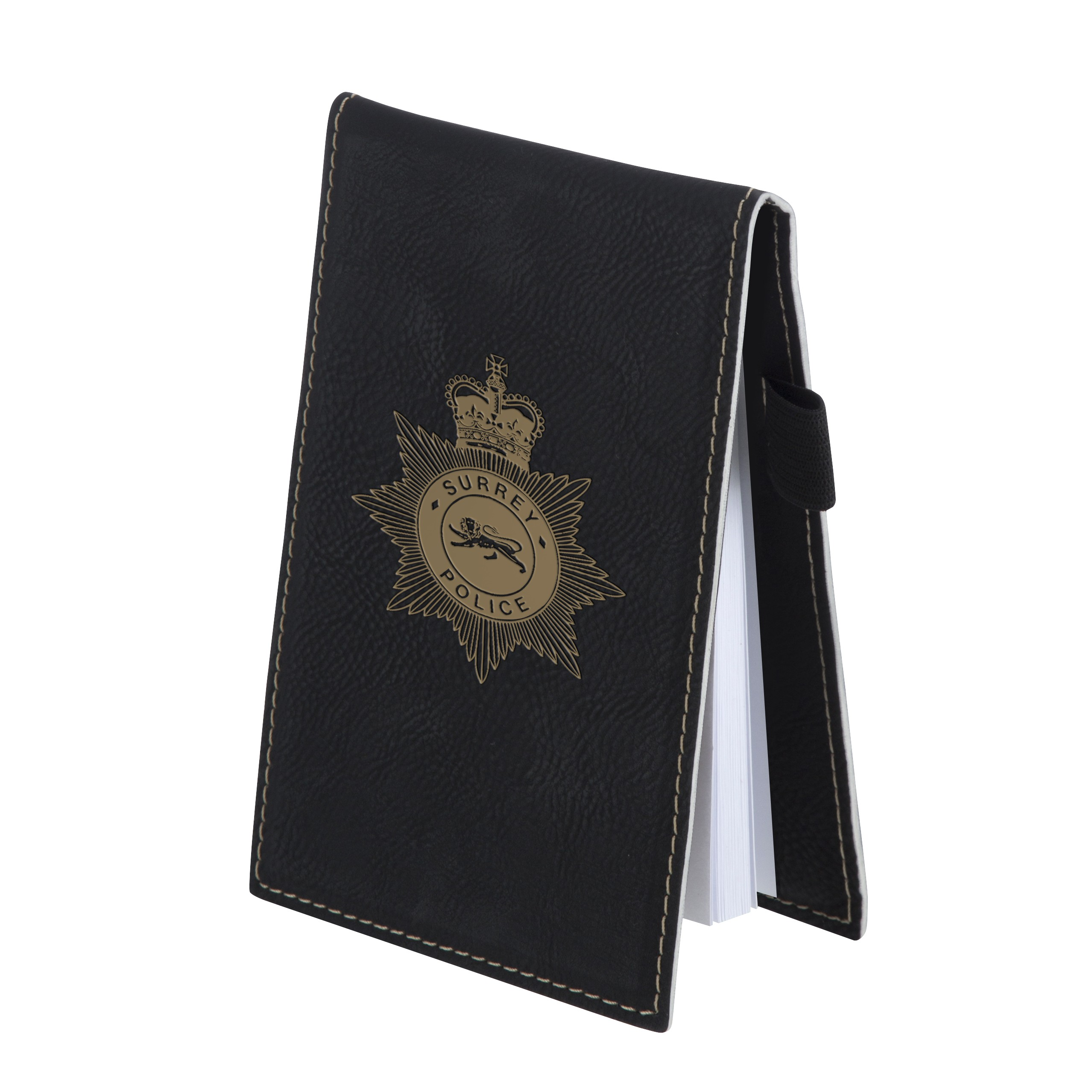 Leatherette Small Black Note Pad Holder