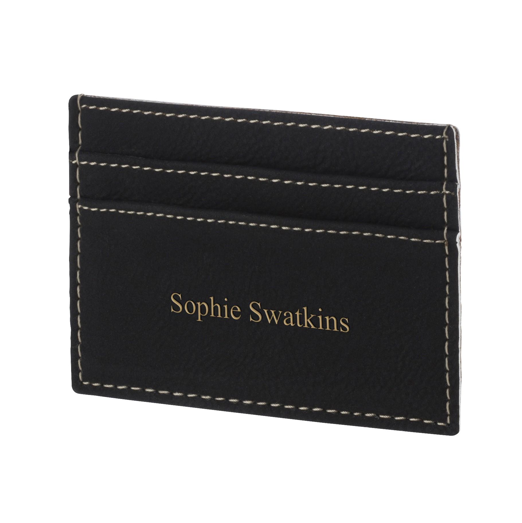 Leatherette Black Credit Card Holder