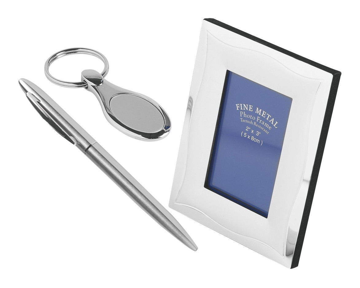 3 Piece Gift Set (Pen, Photo Frame & Key Ring)