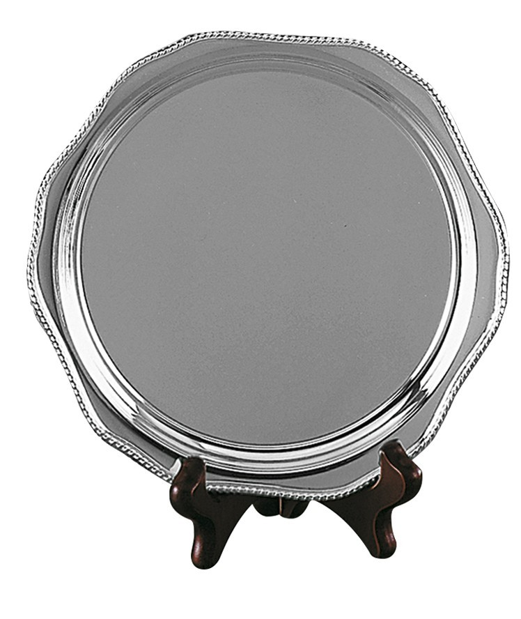 22.5cm Gadroon Mounted Salver With Feet