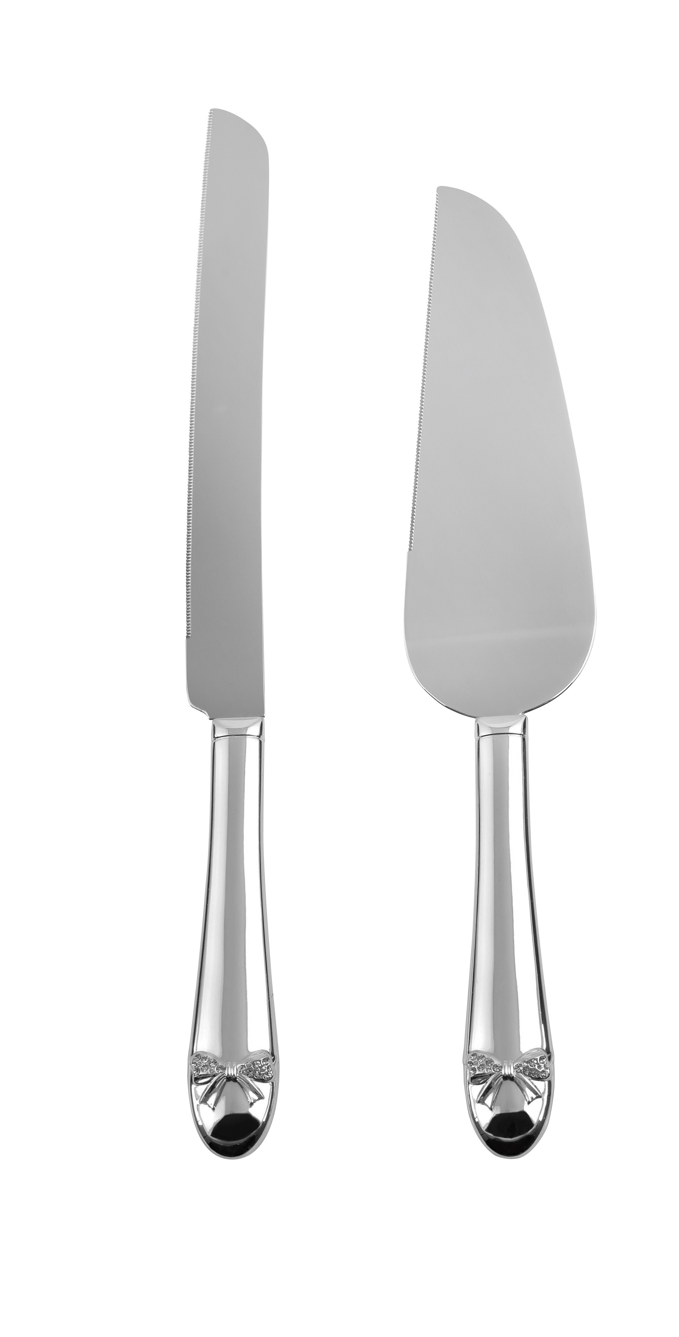 32.5cm Crystal Bow Wedding Knife/Server