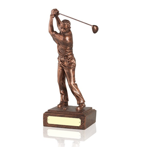 Male Golf Swing - Ant Copper Finish